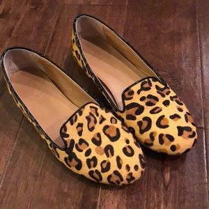 J Crew Leopard Loafers